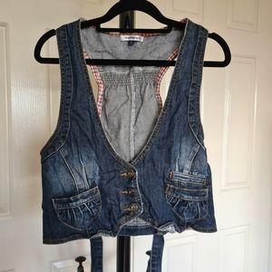Valleygirl 12 Blue Denim Vest with Back Straps